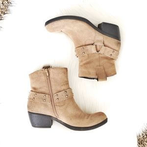 KORK EASE Phillip harness suede Chelsea booties